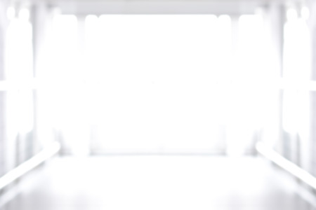 shine: Blur white room abstract background Stock Photo
