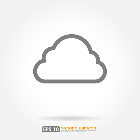 on white background: Cloud icon on white background