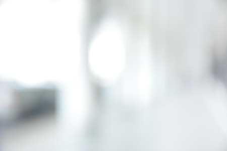 White blur abstract background from building hallway (or corridor)