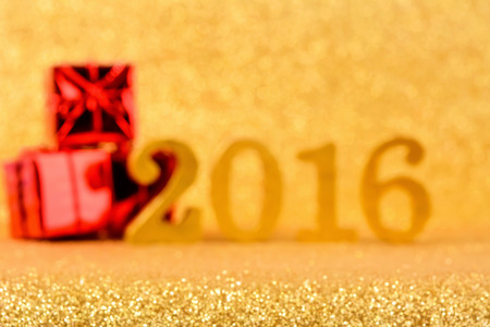 red glittery: Blur shiny glittering gold 2016 background