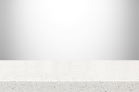 Stone table top (countertop) on gray gradient abstract background - can be used for display or montage your products
