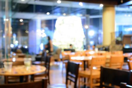 restaurant tables: Blurred image of cafe interior, for background