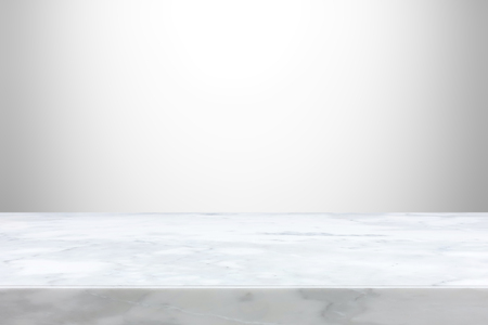 Stone table top on gray  gradient abstract background  - can be used for display or montage your products Banque d'images