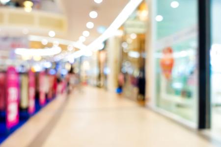 walkway: Blur shopping mall walkway, for background Stock Photo