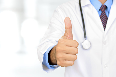 gestures: Doctor hand giving thumbs up