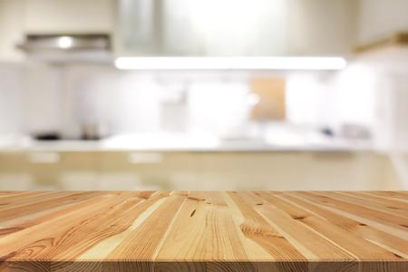 Mármol Mesa De Piedra (isla De Cocina) En El Fondo De La Cocina De ...