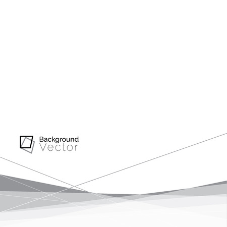 Modern white gray line abstract background, border design - minimalist concept with copy space