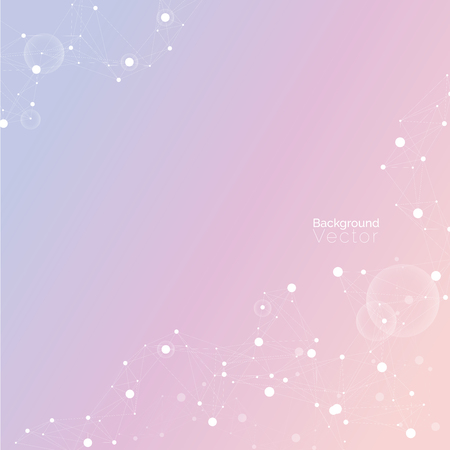 biological: Abstract gradient light purplish pink background with molecular pattern - scientific, biological and medical background concepts