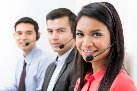 Call center (telemarketing of klantenservice) team Stockfoto