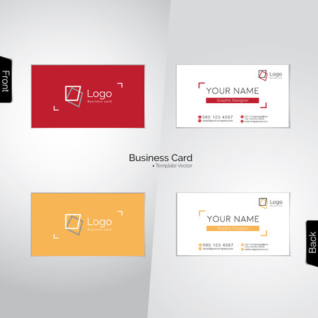 designer: Photographer (and graphic designer) colorful business cards Illustration