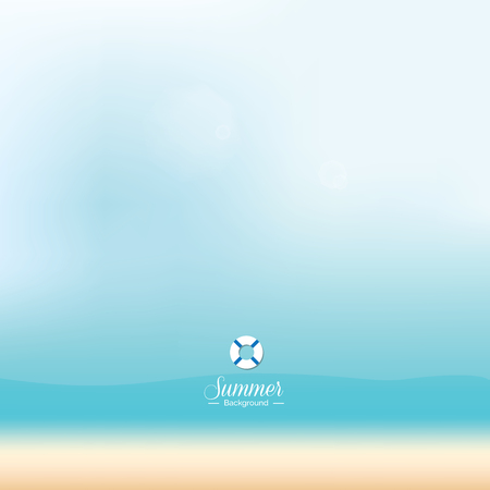 Abstract blue beach background