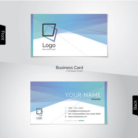 Moderna tarjeta de visita abstracta - tono suave con los colores azul, verde, morado y blanco de luz