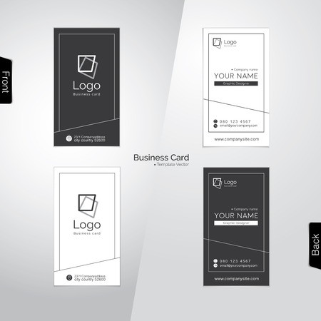 dark gray line: Modern gray and white vertical business card templates
