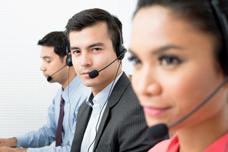 Call center (or telemarketer) team