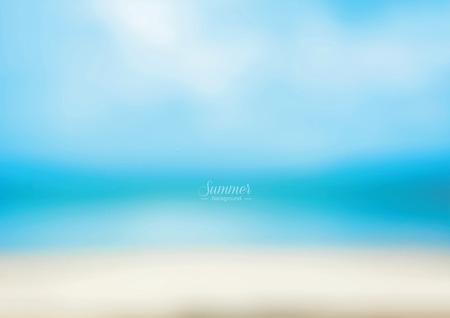 shoreline: Abstract blue beach - vector background