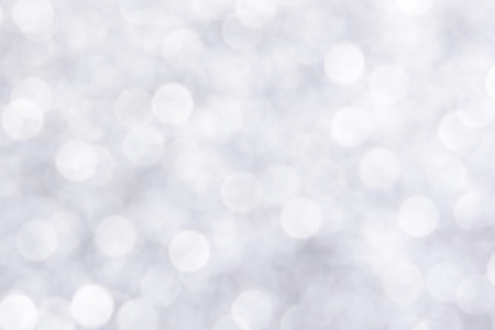 shimmering: White bokeh abstract background Stock Photo
