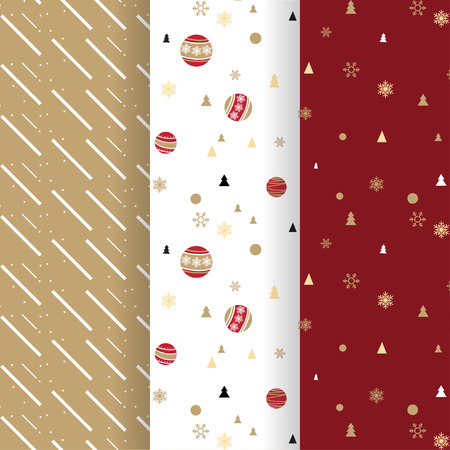 gift pattern: Christmas pattern collection for background or gift wrapping paper
