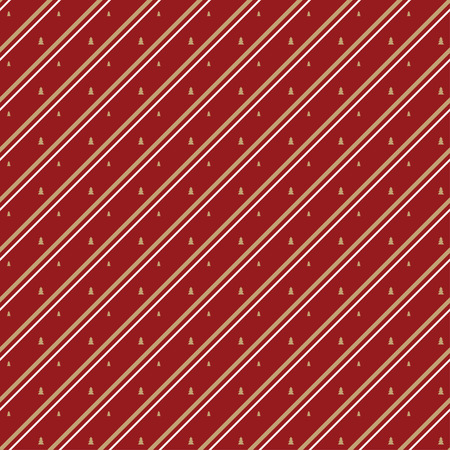 christmas paper: Diagonal striped Christmas pattern on red background, can be used for gift wrapping paper Illustration