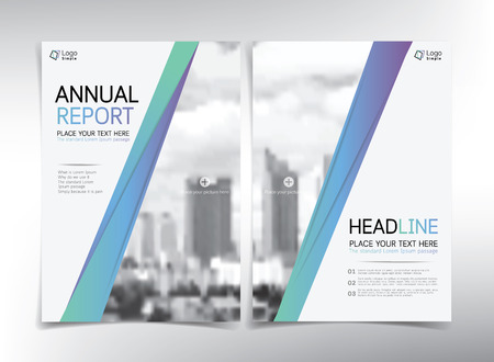 cover page: Modern business cover page, vector template - can be used for annual report, flyer, brochure, leaflet and more