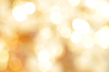 Abstract golden bokeh background, festive theme Stock Photo