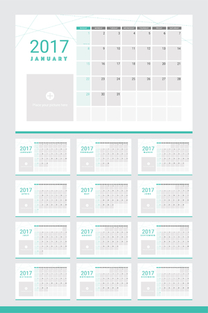 monthly planner: 2017 calendar twelve month set