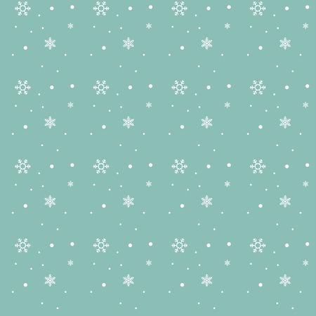Snowflake pattern on pastel turquoise background, Christ mas theme