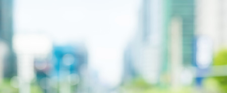 Blur buildings in the city, panoramic banner background Stock Photo