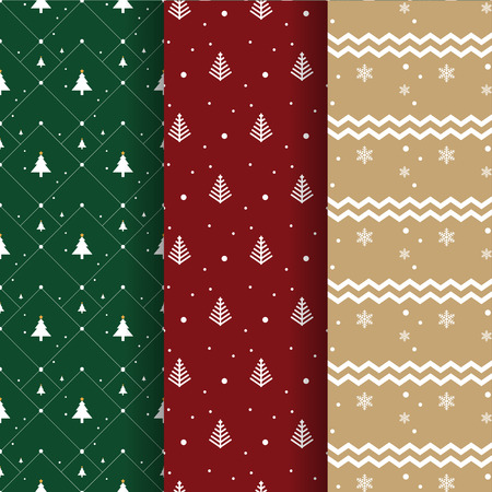 gift paper: Christmas pattern collection for background and gift wrapping paper Illustration