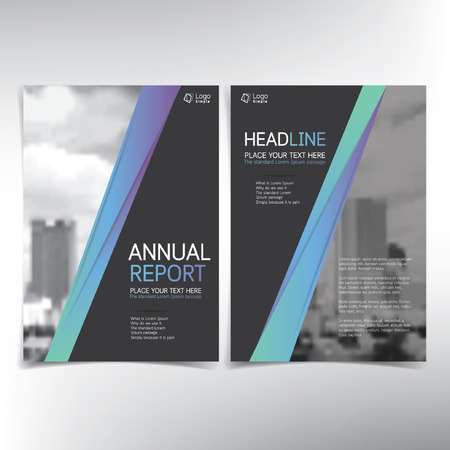 business flyer: Modern business cover page, vector template, real estate concept - can be used for annual report, flyer, brochure, leaflet and more