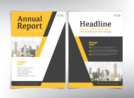 corporate buildings: Modern business cover pages, vector template with spaace for your pictures - can be used for annual report, flyer, brochure, leaflet and more