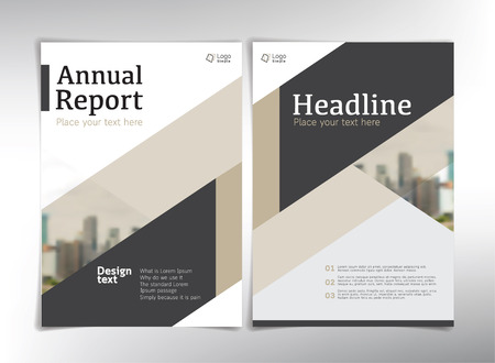 Modern business cover pages, vector template - can be used for annual report, flyer, brochure, leaflet and more