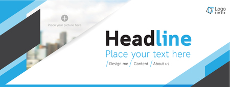 business space: Vector web banner template, business theme, with space for your picture. Illustration