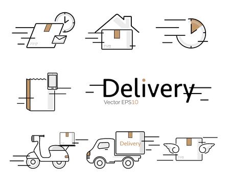 Delivery vector icon set.