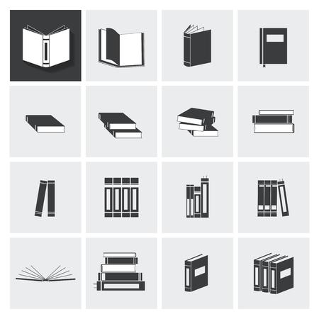 Boek vector pictogram op lichtgrijze achtergrond