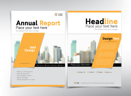 modern business cover page vector template real estate concept