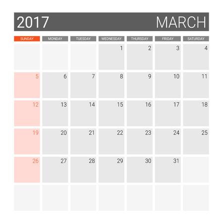 weekly: 2017 January calendar (or desk planner)