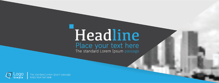 catalog: Horizontal web banner, vector template, with space for your picture Illustration