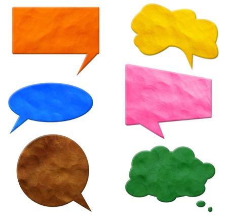 Speech Bubbles plasticine  Standard-Bild