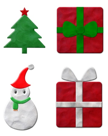 Set of Christmas plasticine  Stock Photo - 11314106