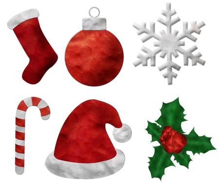 Set of Christmas plasticine  Stock Photo - 11314113