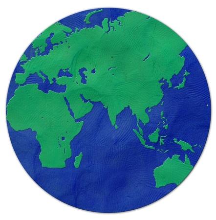 Earth plasticine  photo