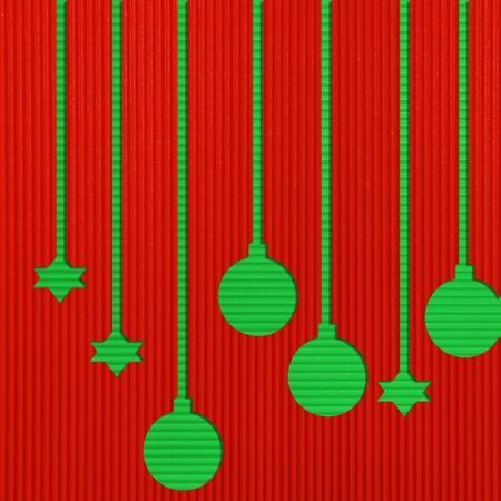 Christmas Corrugated paper background  photo