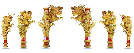 Chinese style dragon on white background Stock Photo - 11820129
