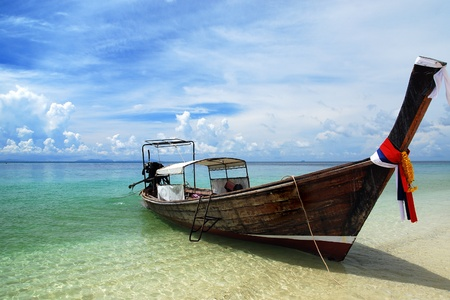 longtail: boat on Thailand sea  Stock Photo