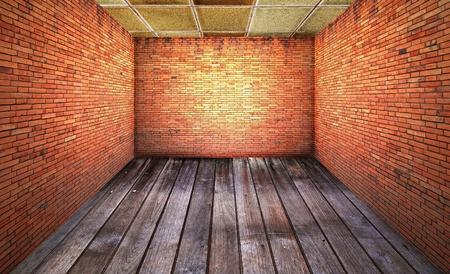 rugged: Old brick room