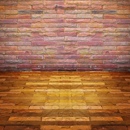 brick wall room photo