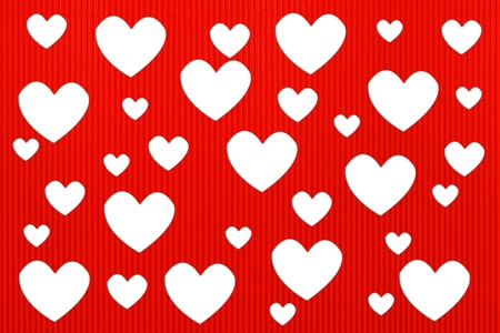 Valentine's day hearts background with Corrugated paper craft Stock Photo - 12009172