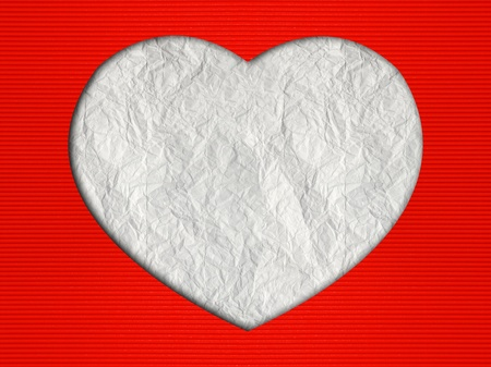 Valentine's day hearts background with Corrugated paper craft Stock Photo - 12024004