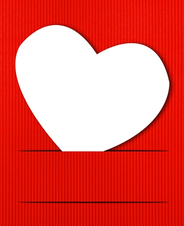 Valentine's day hearts background with Corrugated paper craft Stock Photo - 12009180