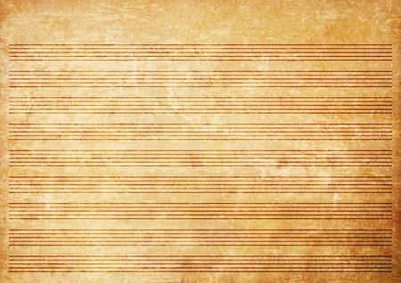 Antiguo grunge papel partituras textura de fondo. Foto de archivo